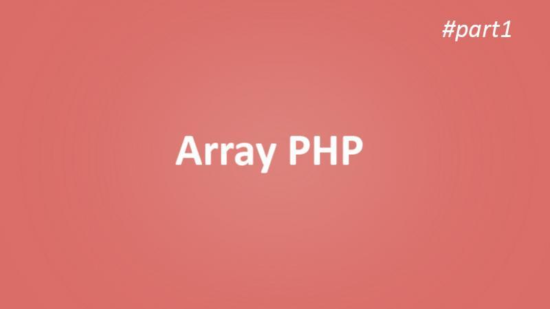 Belajar Array php #part1