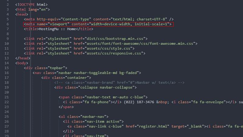 responsive web : meta yang wajib ada untuk responsive web html