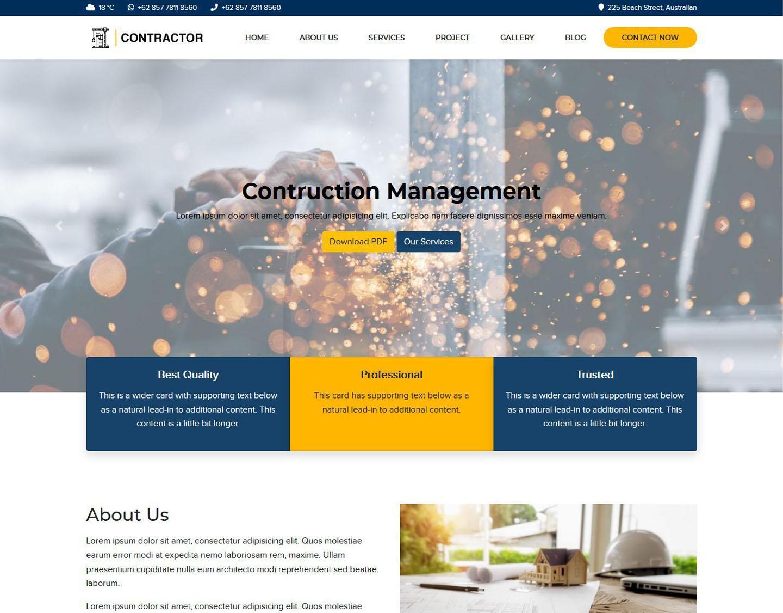 Contruction Management Web / Company Profile