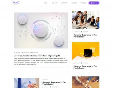 SAMD - Blog / News Responsive Template