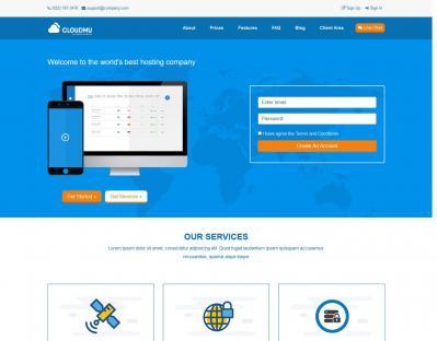 SAMD - Hosting Template HTML / Company Profile - R